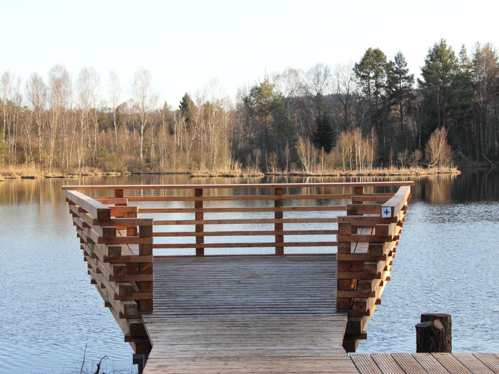 Holzbau Aussichtsplattform Pfrunger-Burgweiler Ried Architekturlokal