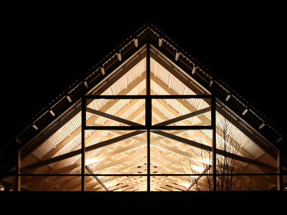 Dachstuhlkonstruktion Naturschutzzentrum Wilhelmsdorf Architekturlokal
