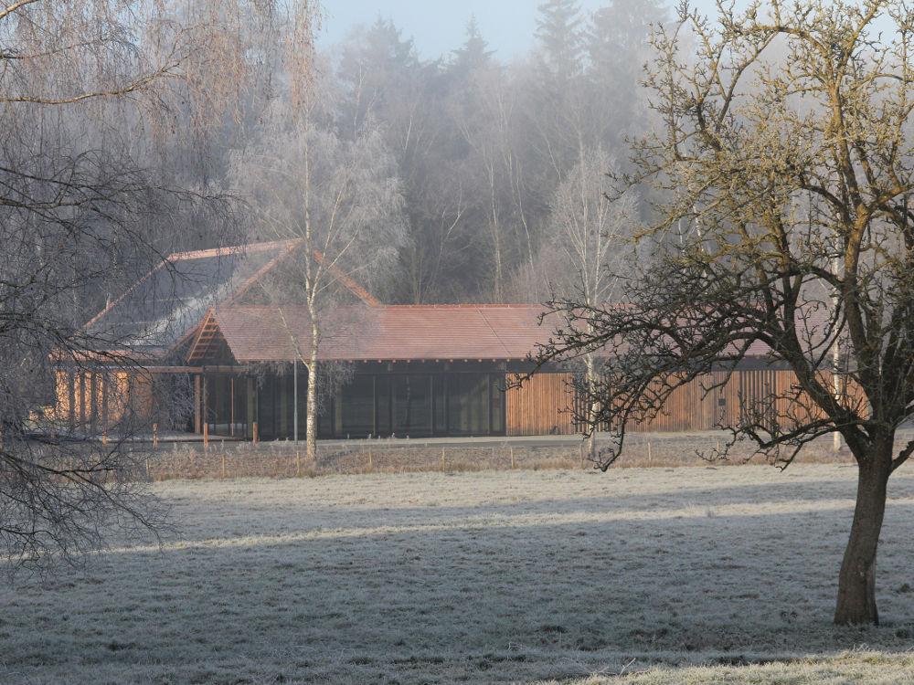 Außenansicht Neubau Naturschutzzentrum Wilhelmsdorf Architekturlokal