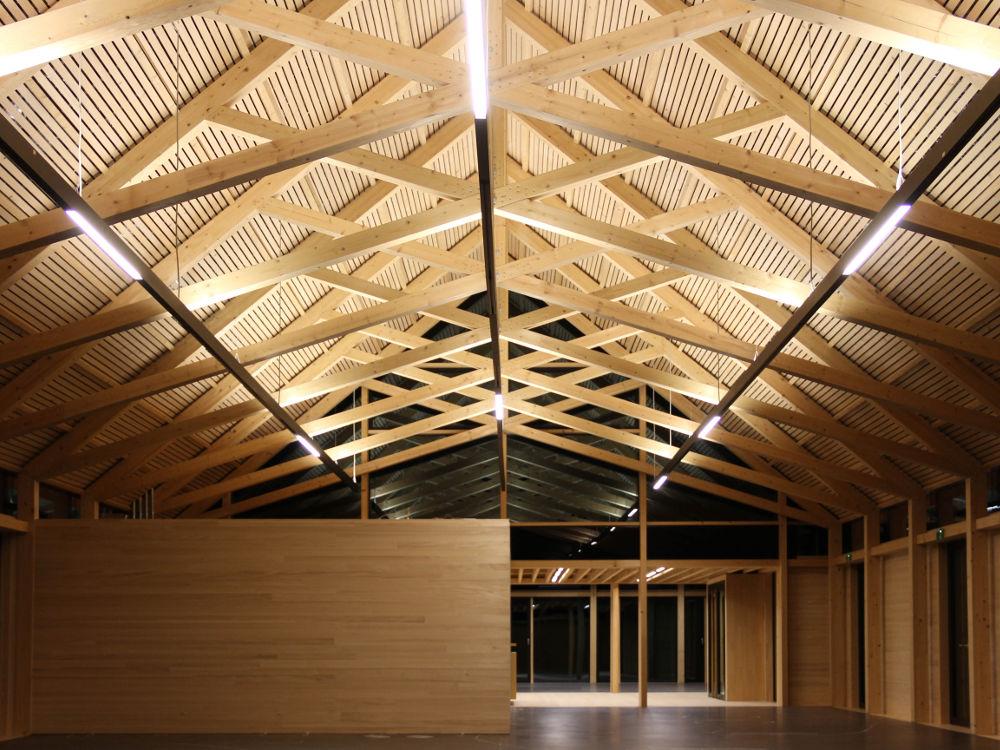 Holzdachstuhl Architektur Naturschutzzentrum Wilhelmsdorf